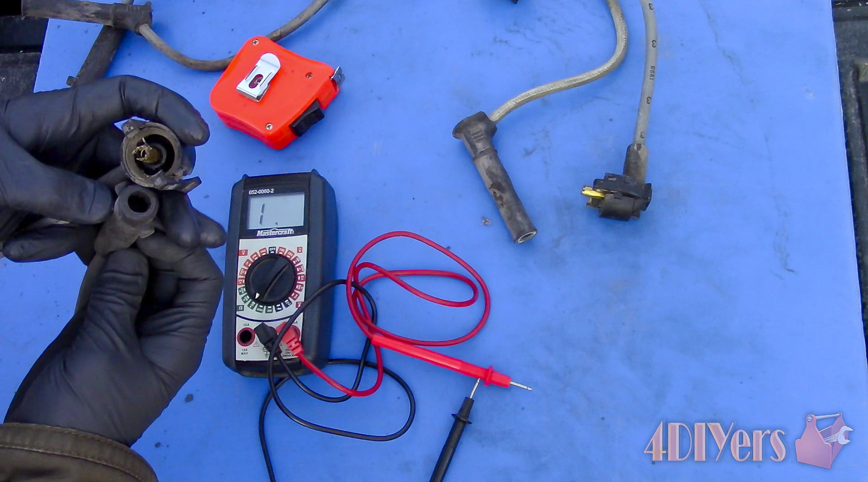 Picture of Multimeter Test With Old Wires
