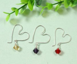 How to Make Easy Wire Wrapped Heart Shaped Earrings