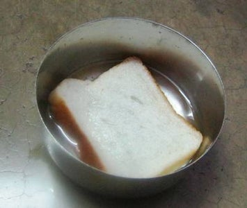 Dip the Bread Slice Into Water and Squeeze It