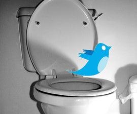 Twittering office toilet