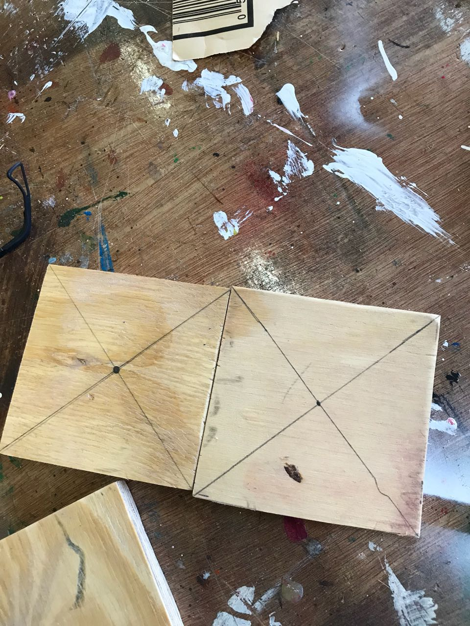 Picture of Plotting Points in the Middle of the Pieces and Cutting the Circle