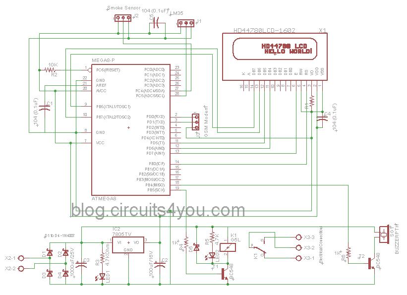 GSM Based Fire Alarm System: 3 Steps