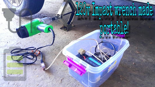 120v Impact Wrench Modified to Operate Car Jack