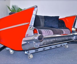 57 Chevy Classic Car Couch