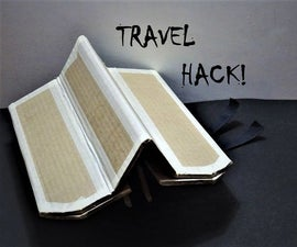 Cardboard Plane Armrest Hack