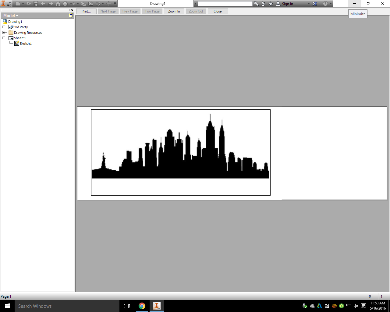 Picture of Laser Cutting the Skyline