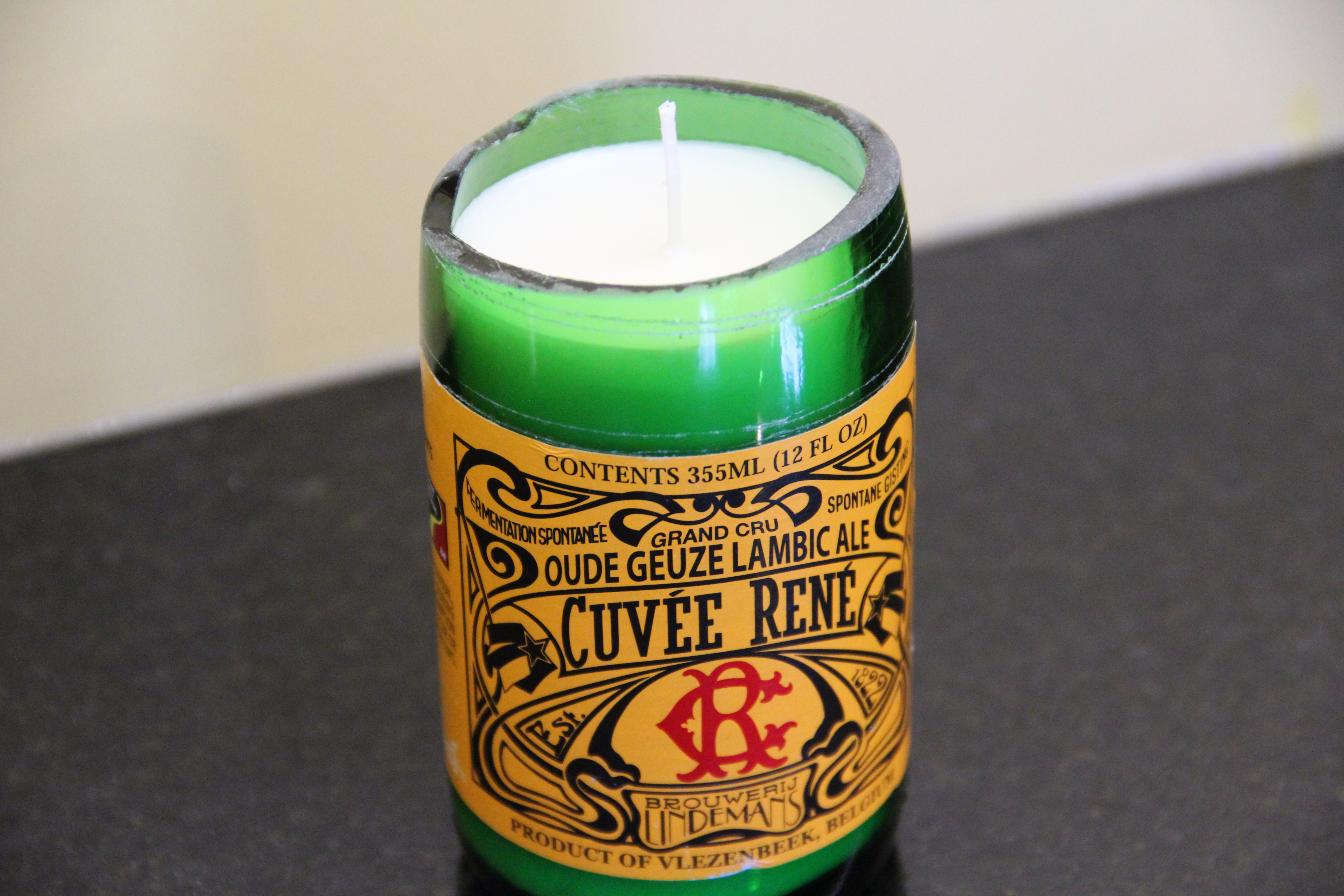 Picture of Easy Beer Bottle Candle Making