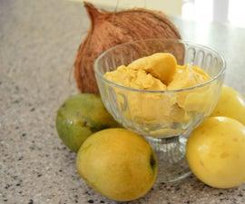 Easy, Flavorful, Mango Ice Cream - No Ice-Cream Maker Necessary!