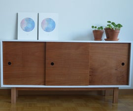Modern Console Cabinet