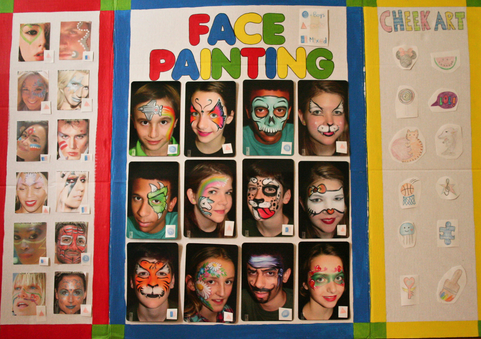 Picture of Face Painting Display Board