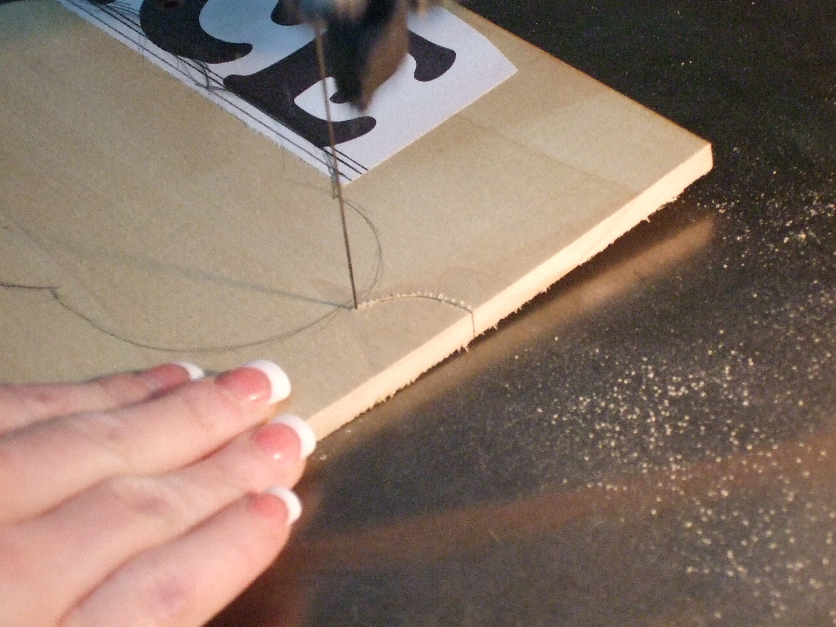 Picture of Cutting Out the Rest of the Sign