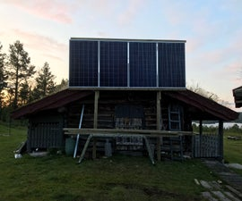 Large Solar Panel Wall Mount With Tilt