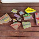 Up-cycled Paver Garden Markers