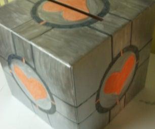Companion Cube Money Box (for a Wedding Reception)
