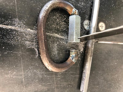 Cut the Opening in the Threaded Rod