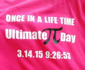Make PI Day Shirts for the Family