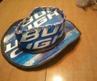 Beer cowboy hat