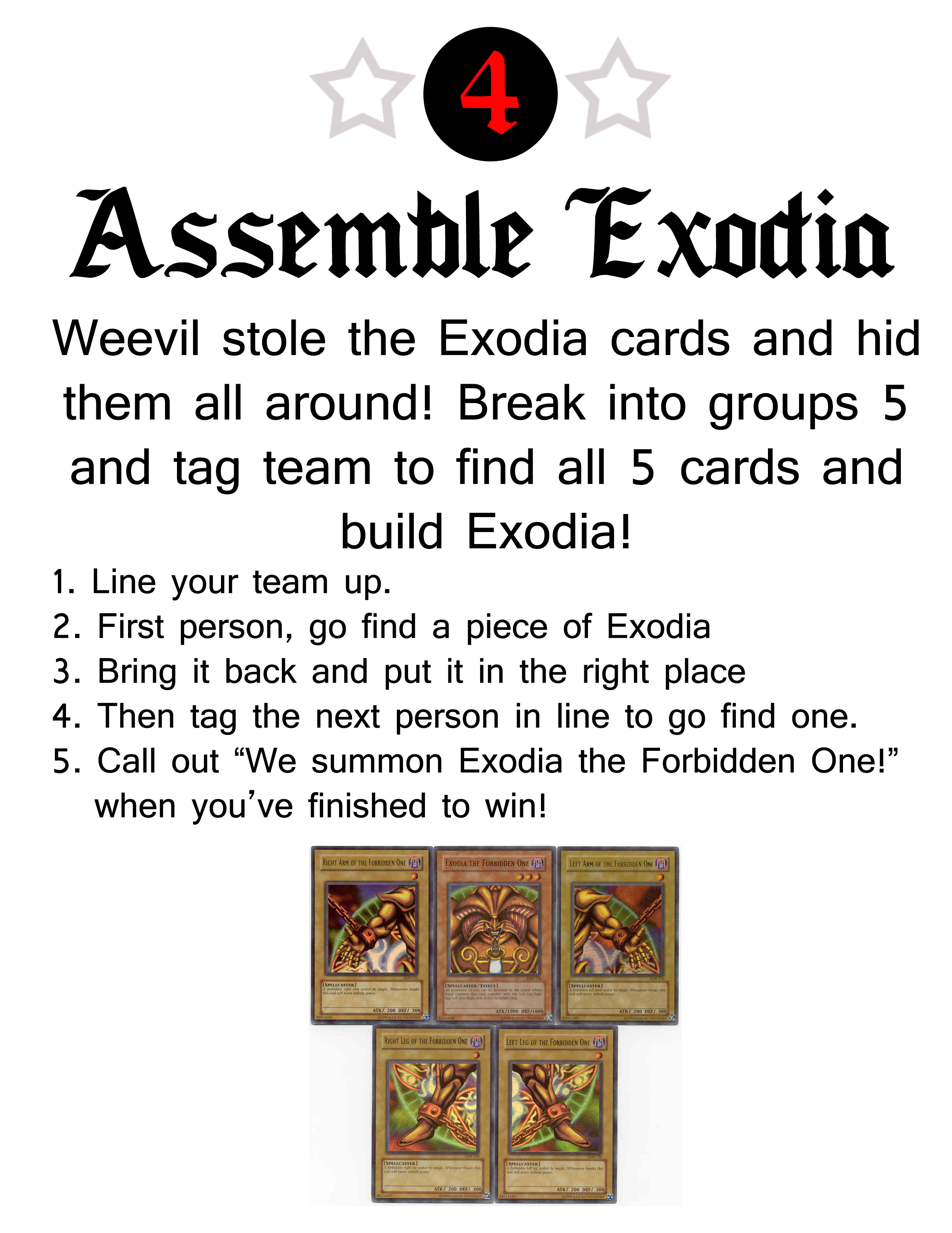 Picture of Exodia Game