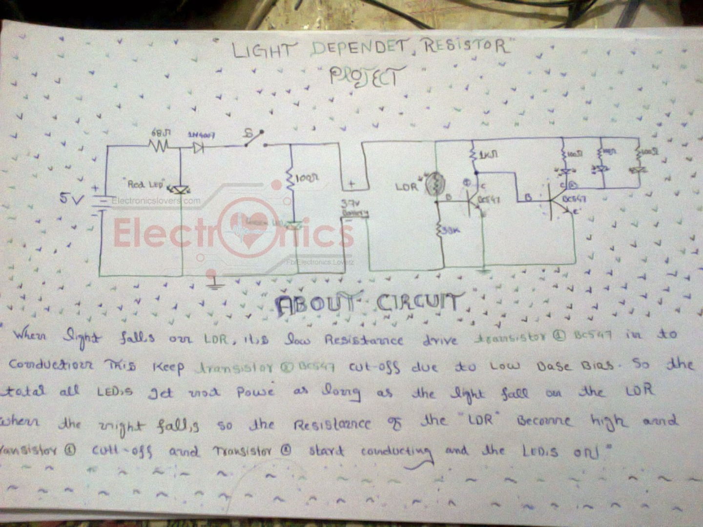 Picture of How to Make an LDR (light-dependent Resistor ) Circuit