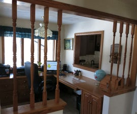 Before & After - Decorative Tiles Replace Wooden Spindles