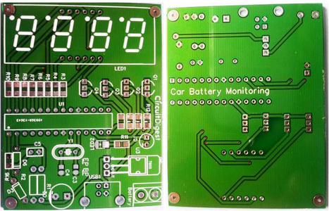 PCB of Car Battery Monitoring System