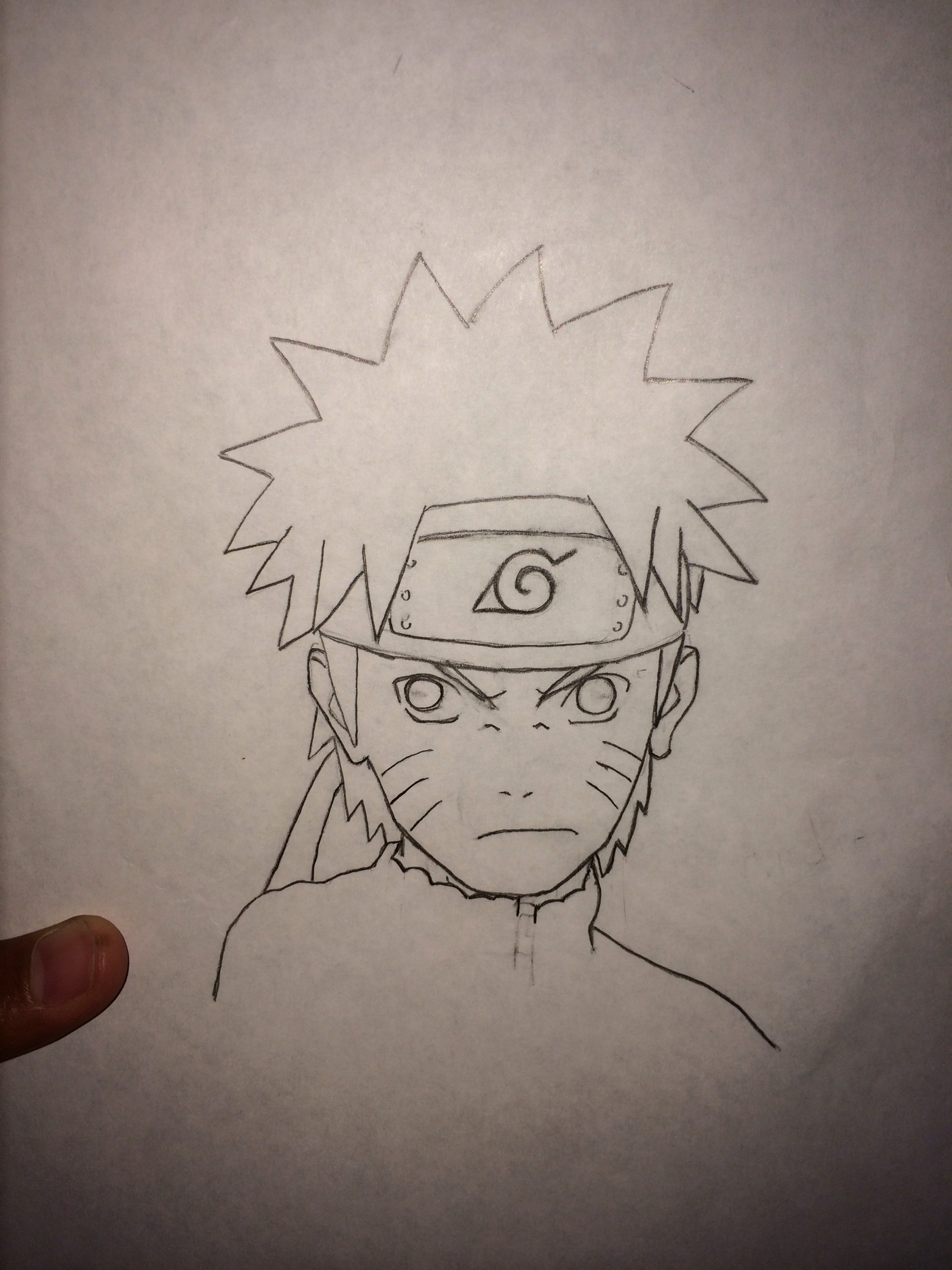 How to draw naruto 7 steps