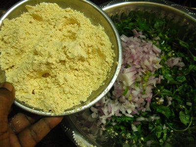 Mix All Ingredients and Hand-shape Vadai
