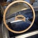 Steering wheel for vintage racer