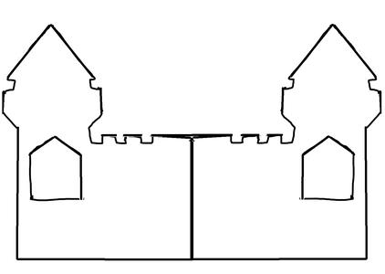 Trace Castle Towers on Styrofoam Board 2