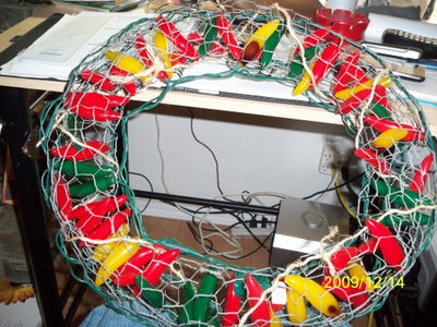 Insert LED Lights Into the Wreath