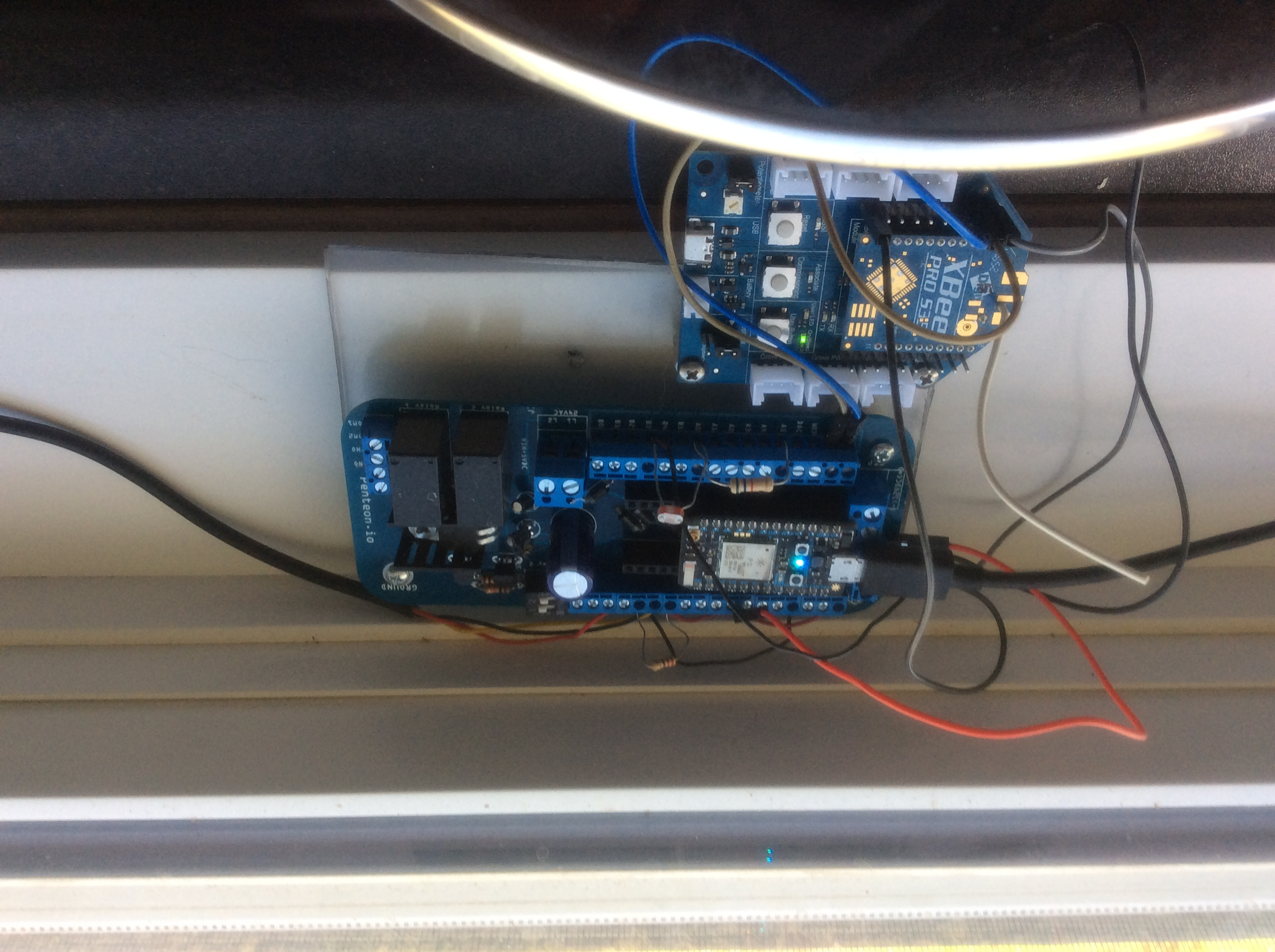 Picture of Particle Power Shield and XBee Configuration