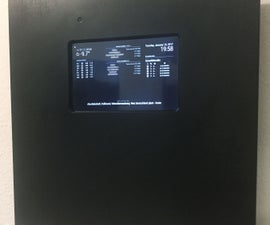Infodisplay with raspberry pi and magic mirror software