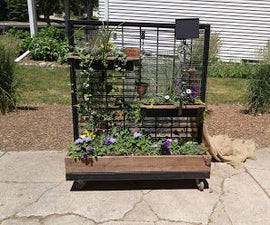 Versatile garden from an old clothing rack