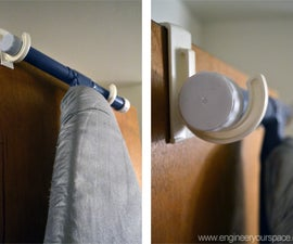 Easy way to hang an ironing board