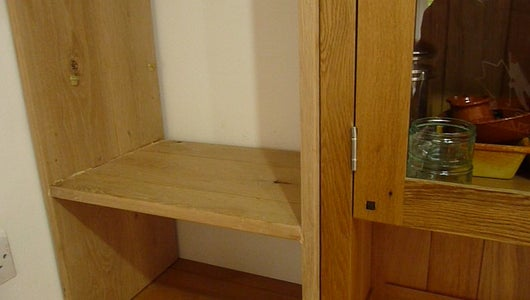 Making a Solid Oak Food Cupboard to Fill the Space on the Back Wall.