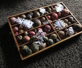 Oak Chrysalis Ornaments