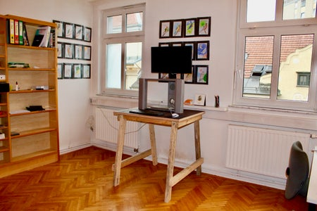 Standing Desk From Recycled Wood