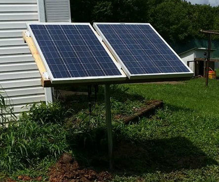 Solar Power System With Up-cycled Components.