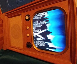 Retro TV Console Media Cabinet