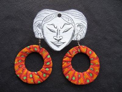 DIY Fabric Hoop Earrings