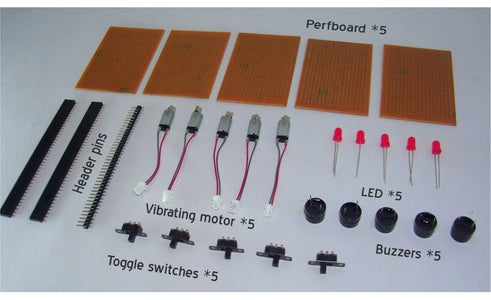 Prototyping of the Idea - Parts Used