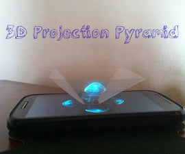 Amazing 3D Projection Pyramid in 10 min from Clear Plastic Sheet !
