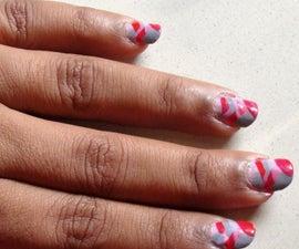 DIY Braided nail art