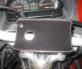 iPhone/smart phone holder for motorcycle