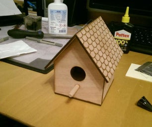 Laser-Cut Birdhouse with Window