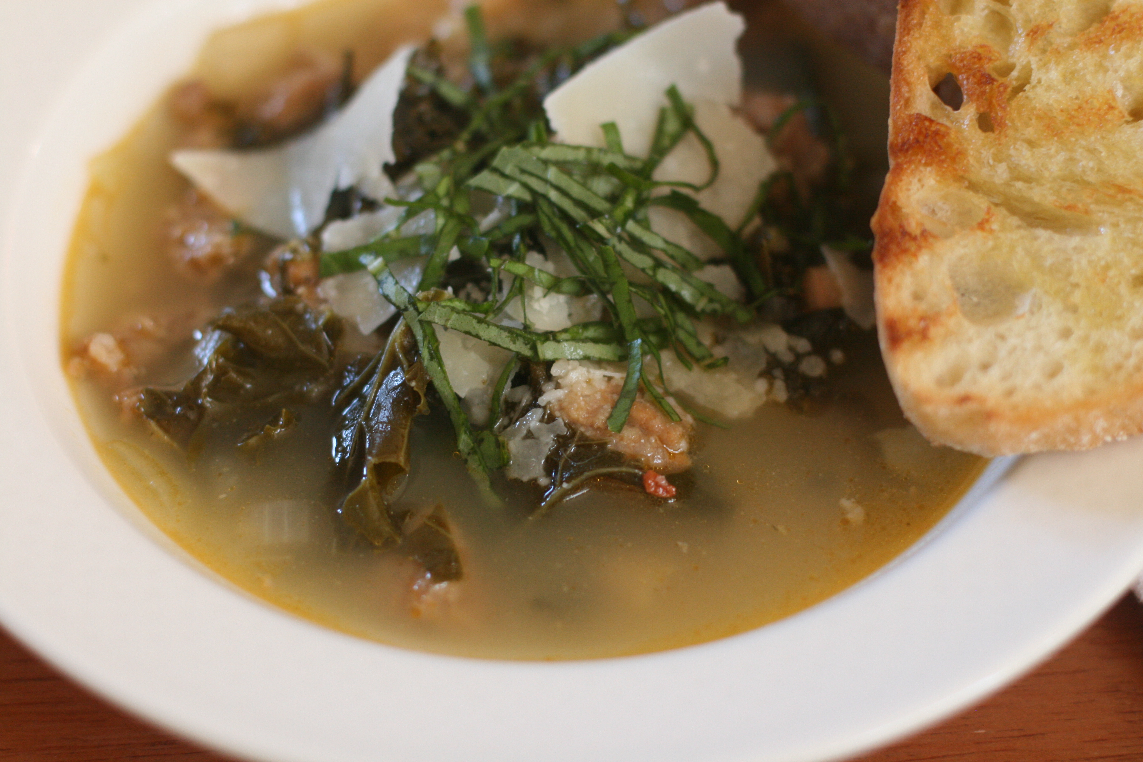 Picture of Kale, Sausage, Cannellini Bean Soup