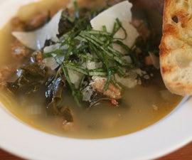 Kale, Sausage, Cannellini Bean Soup