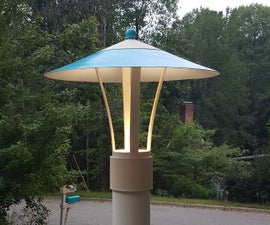 The Most Awesome-est Mid-Century-Modern Lamp Post Light Project