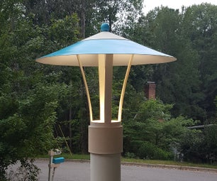 Awesome Mid-Century-Modern Lamp Post Light Project