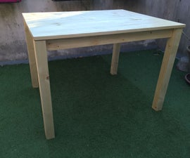 Easy Outdoor Wood Table